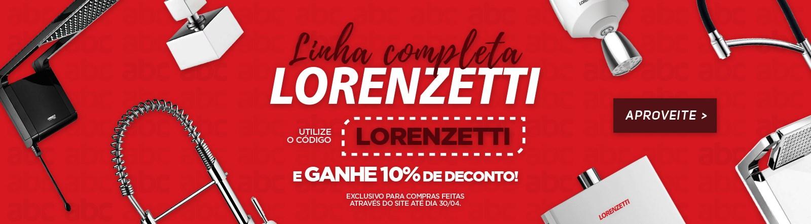 Cupom 10% Lorenzetti