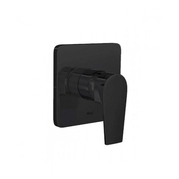 Acabamento Monocomando Para Chuveiro 4993 Level Alta E Baixa Pressão  Black Noir Deca