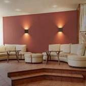Arandela Elegance Bifocal Café 3w 3000k Emissão De Luz Amarela Led Avant