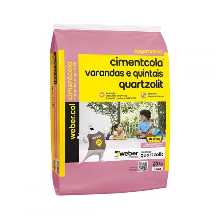 Argamassa Cimentcola Varandas e Quintais 20KG Quartzolit
