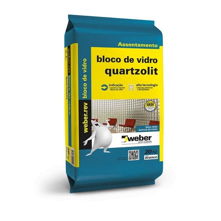 Argamassa para Bloco de Vidro 20KG Quartzolit