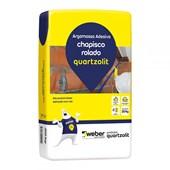 Argamassa Para Chapisco Rolado 20kg Quartzolit