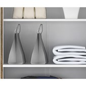 Armário Multiuso 2 Portas Com Chaves Asteca Valdemóveis Branco