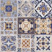 Azulejo 20x20cm Bold Patchwork Maiolica Brilhante Pa Eliane