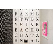 Azulejo Monoporosa 19X19CM Retificado Letter `F` Acetinado Decortiles