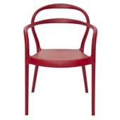 Cadeira com Braços em Polipropileno e Fibra de Vidro Sissi 92045/040 Vermelho Tramontina