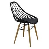 Cadeira Com Pernas De Madeira Philo 92088/009 Preta Tramontina