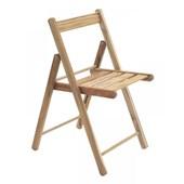Cadeira Dobrável Lille De Madeira Teca Natural Tramontina