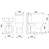 Caixa Acoplada Para Vaso Sanitário Suite 3/6l Branco Incepa