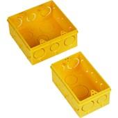 Caixa De Luz Para Eletroduto 4x4 Amarela Amanco