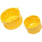 Caixa de Luz para Eletroduto 4X4 Octogonal Amarela Amanco