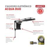 Chuveiro Eletrônico Acqua Duo Ultra 220V 7800W Preto/Cromada Lorenzetti
