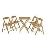 Conjunto Mesa 4 Cadeiras Dobráveis Beer Verniz 10630/066 Tramontina