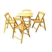 Conjunto Mesa 4 Cadeiras Dobráveis Tabaco Beer Verniz 10630/006 Tramontina