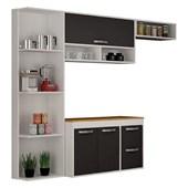 Cozinha Compacta Esmeralda Salleto Branco Grafite