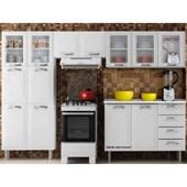 Cozinha De Aço 4 Premium 2018 3 Módulos Branco Itatiaia