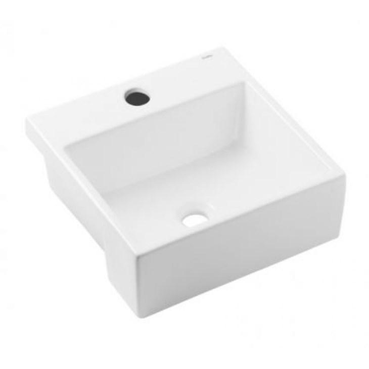 Cuba de Semiencaixe Quadrada Basic Q2 41X41CM Branco Matte Celite
