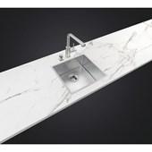 Cuba Quadrum 45x40cm Com Acabamento Scoth Brite Aço Inox Tramontina