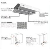 Depurador De Parede Retratil 60cm Slide 127v 94810/005 Inox Tramontina