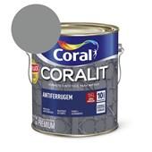 Esmalte Sintético Coralit Antiferrugem Brilhante Cinza - Padrão Ferrolack 3.6L Coral