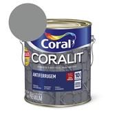 Esmalte Sintético Coralit Antiferrugem Brilhante Cinza - Padrão Ferrolack 900ml Coral