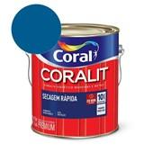 Esmalte Sintético Coralit Secagem Rapida Brilhante Azul França 3.6L Coral