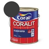 Esmalte Sintético Coralit Secagem Rapida Brilhante Preto 3.6L Coral
