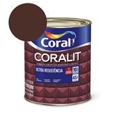 Esmalte Sintético Coralit Ultra Resistencia Acetinado Marrom 900Ml Coral