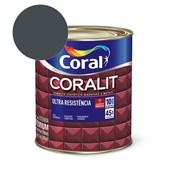 Esmalte Sintético Coralit Ultra Resistencia Alto Brilho Cinza Escuro 900Ml Coral