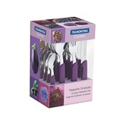 Faqueiro em Inox Carmel com 16 Peças 23499/010 Púrpura/Escuro Tramontina