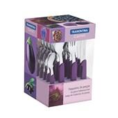 Faqueiro Em Inox Carmel Com 24 Peças 23499/030 Púrpura Escuro Tramontina