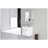 Gabinete Para Banheiro Suspenso De Madeira Mônaco 59,5cm Com Gavetão 570802 Branco Rorato