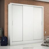 Guarda-roupa Barcelona 3 Portas Sem Espelho Branco Carioca Móveis