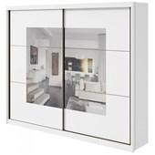 Guarda-roupa Casal C/ Espelho 2 Portas 6 Gavetas Toronto Plus Branco Lopas