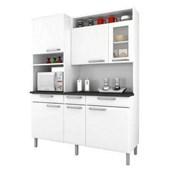 Kit Cozinha de Aço Regina 2,0X1,55M 6 Portas e 3 Gavetas I3VG3-155 Branco Itatiaia