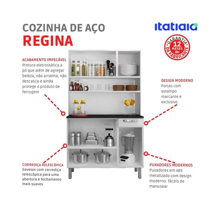 Kit Cozinha de Aço Rose I3G1-105 Branco Itatiaia