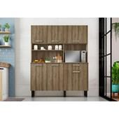 Kit De Cozinha Com 6 Portas E 1 Gaveta I1-140 Itatiaia Castanho