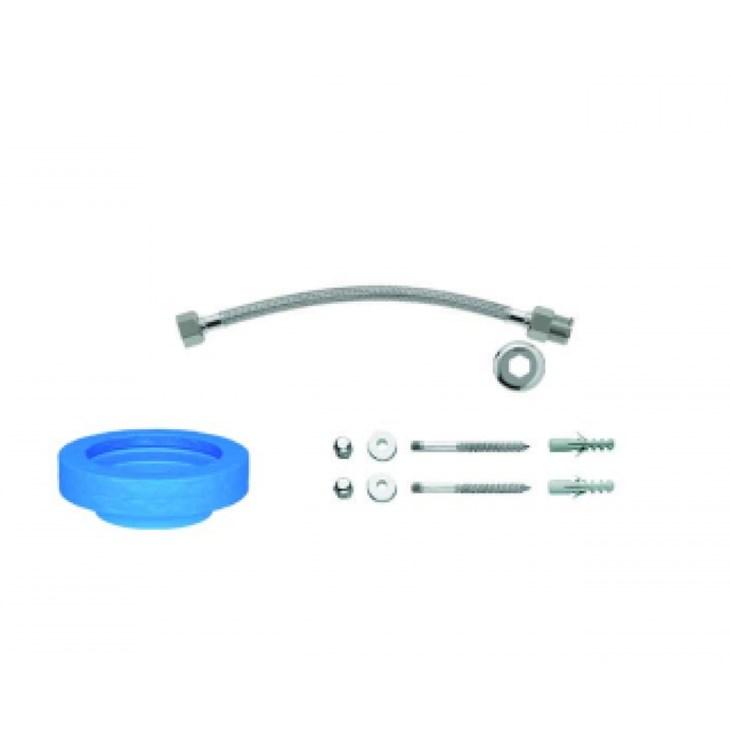 Kit de Instalação para Bacia com Caixa e Fixação Vertical 1200 Cromada Deca