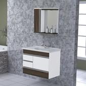 Kit Para Banheiro Modena 79,5cm Nogal 557929 Rorato