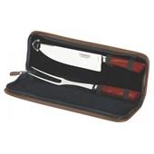 Kit para Churrasco em Inox Polywood com 3 Peças e Estojo 21599/759 Vermelho Tramontina