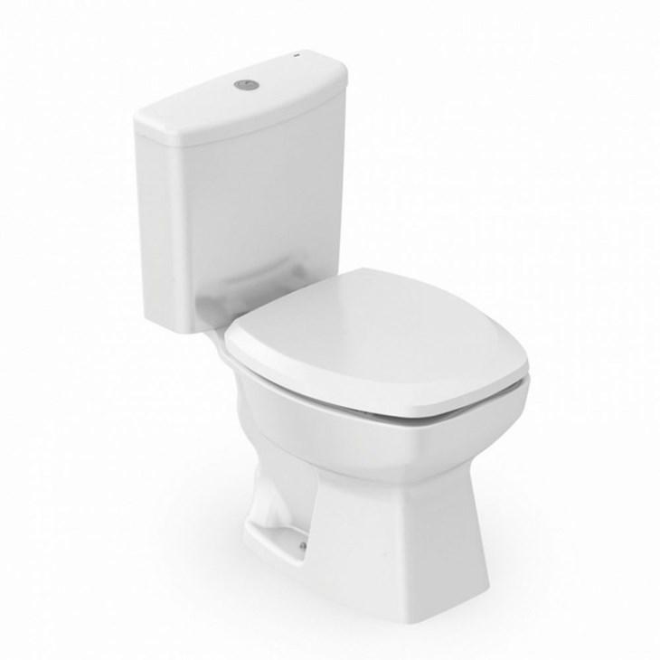 Kit Vaso Sanitário Com Caixa Acoplada E Acessórios Thema Branco Incepa