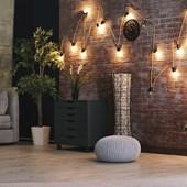 Lâmpada Bulbo Retrô 4w 2200k Bivolt Emissão De Luz Âmbar A60 Avant