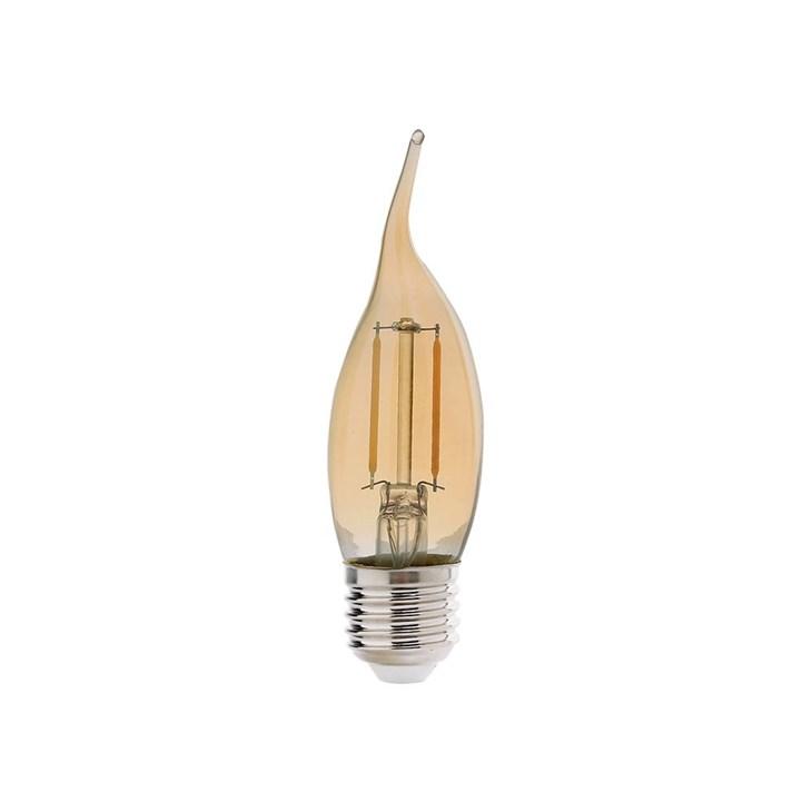 Lâmpada Vela Retrô Dimer 4W 2200K 127V Emissão de Luz Âmbar E27 Avant
