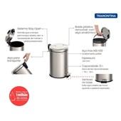 Lixeira Aço Inox Com Pedal 5l Tramontina