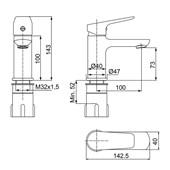 Misturador Monocomando Lavatório De Mesa Cromado 2875 C72 Lorenzetti