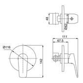 Misturador Monocomando Para Chuveiro Cromado 2993 C72 Lorenzetti