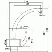 Misturador Monocomando Para Cozinha De Mesa Allure 2257 C71 Cromado Lorenzetti