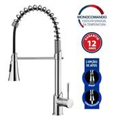 Misturador Monocomando Para Cozinha De Mesa Kitchen Com Ducha C76 2266 Cromado Lorenzetti