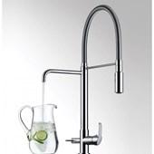 Misturador Monocomando Para Cozinha De Mesa Kitchen Com Ducha E Saída Para Água Filtrada 2264 Cromada Lorenzetti