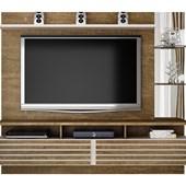 "Painel Home Suspenso Para Tv até 65"" Miami Valdemóveis Ipê/Off White"